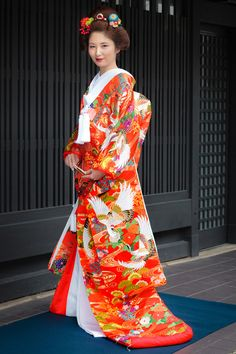 Japanese Outfits, Japanese Fashion, Folk Costume, Costumes, Japanese Wedding Kimono, Japanese Characters, Asian, Clothes, Beautiful
