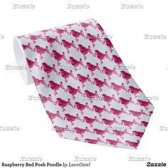 Shop Raspberry Red Posh Poodle Neck Tie created by LeonOziel. Custom Ties, Succulents Diy, Unique Image, Business Supplies, Etiquette, Poodle, Night Out, Raspberry, Pattern