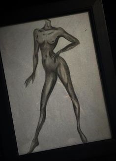 Drawing of the female body