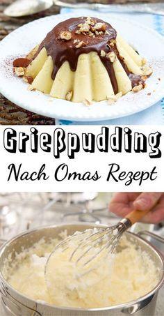 Mhhhmmm ... Köstlicher Grießpudding ist nach unserem #Rezept einfach gemacht und so lecker. Dazu Schokosoße oder Kompott - himmlisch! #Nachtisch