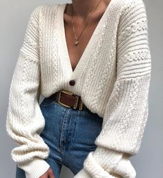 9 perfect sweaters for autumn - sports and women, Winter Mode Outfits, Winter Fashion Outfits, Fall Outfits, Autumn Fashion, Work Outfits, Fashion Clothes, Cardigan Fashion, Street Style Outfits, Casual Clothes