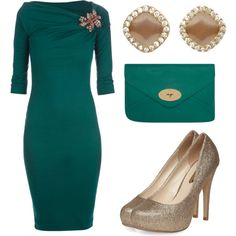 "a very ""Joan""... Christmas outfit by miss-adriennej on Polyvore"