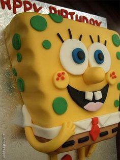 Sponge bob-Bugs n Brees cake inspiration