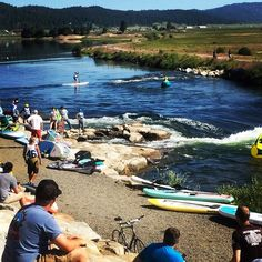 It's a beautiful day at the @payetterivergames! #Idaho #rivergames #paddleboarding #paddles #aztekpaddles #supconnect #suplife #supracer