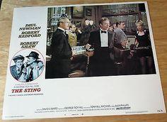 THE STING---VINTAGE 1974 LOBBY CARD #7  UNUSED 11 X 14 PROMO--ROBERT REDFORD