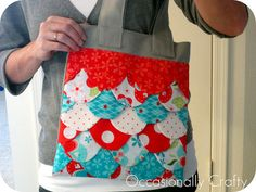 Occasionally Crafty: Sweet Scallops Tote- My Version
