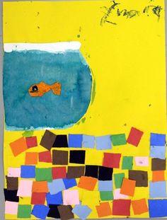 Fish Bowl Art! Love this for kindergarten!