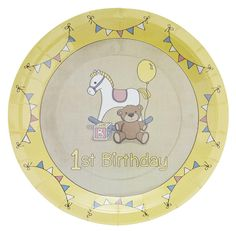 ROCK A BYE BABY 1ST BIRTHDAY PARTY 23cm X-Large PLATES 8 Pack | eBay