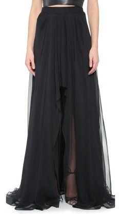 Monique Lhuillier High Low Skirt