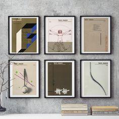 6 piece Wall Art MidCentury Graphic Design Retro German Form Zweck BROWNS Print Reproduction Magazine Print Graphic Designer Gift