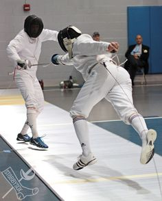 Epee fencing at the Dominick Open, April 27, 2013. Outside of Chicago, Illinois Fencers Club. stabbysox photo #1330