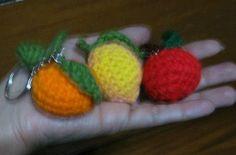 Crochet and Other Stuff: Apple Orange Lemon Keychain - free crochet patterns