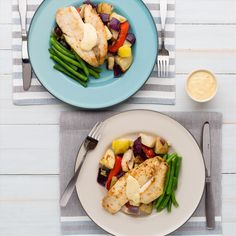 Pan-Fried Fish with Roast Vegetables, Asparagus and Hollandaise