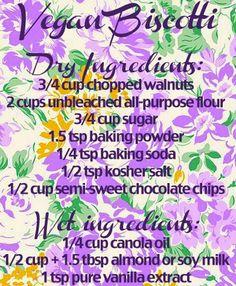 Vegan Biscotti Recipe