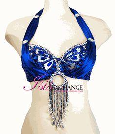 Belly dance top - blue