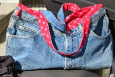 gkkreativ: Jeanstasche Diy Backpack, Recycled Denim, Sewing Projects, Backpacks, Pants, Fashion, Sew Bags, Sewing Patterns, Repurpose