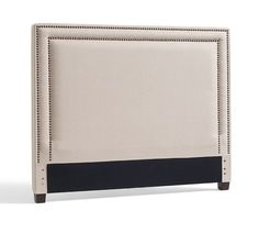 Tamsen Upholstered Square Bed & Headboard- design idea for DIY with nailheads