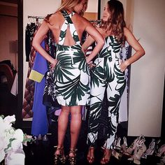 Blake Lively and a friend in two looks Lively co-designed with Sam & Lavi