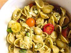 Pesto, Feta, and Cherry Tomato Pasta Salad