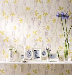 Laura Ashley home story: Wisteria Trail Laura Ashley Interiors, Laura Ashley Home, Wisteria, Wall Wallpaper, Fabric Patterns, Interior Inspiration, Home Accessories, Home And Family, Gallery Wall