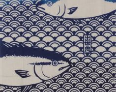 Tenugui Japanese Fabric 'Angler's Arsenal' by KyotoCollection