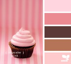 Cupcake Pink ~ LOVE pink & brown together!