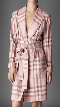 7566814784 Womens Bathrobes with Ribbed Design