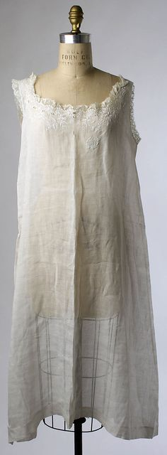 Wedding Lingerie, 1900, French, linen and silk (w/o robe)