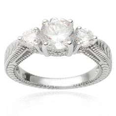 Journee Collection Sterling Cubic Zirconia Bridal Style Ring