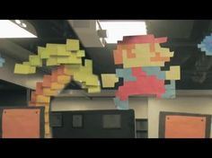 Mario comes to life with 7000 Post It Notes