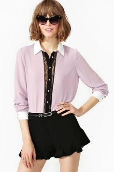 Sweet Revenge Blouse and I totally love it with the little skort!
