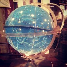 Looking into the stars...can be a nice escape, kr 1200 #frenchvintage #frenchvintageinterior #frenchvintageinteriorshop #vintageglobe #starglobe #vintageglobus #gammelglobus #lookintothestars, Oslo