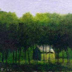 Derived From  A Late Evening Pastel, 2009, oil on canvas, 24 x 32 inches