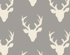 Hello Bear fabric by Bonnie Christine for Art Gallery Fabrics- Buck Forest in Mist, 1 yard or by the yard