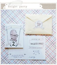 """Love these ideas for a """"Knights & Nobles"""" birthday party! {via mermag}"""