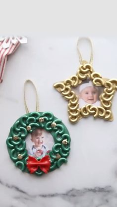 Christmas macaroni ornaments Gifts: Christmas is coming Christmas or the Christ event, the Event of lights, the Feast of peace, or the Christmas fest. Diy Christmas Videos, Diy Christmas Ornaments, Christmas Art, Christmas Holidays, Christmas Wreaths, Christmas Decorations, Homemade Xmas Decorations, Homemade Christmas Gifts, Halloween Crafts For Toddlers