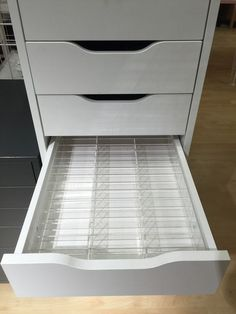 Alex 42 Organizer™ All Alex Organizers are designed to fit inside Ikea Alex drawer sets Unique and gorgeous luxury acrylic drawer organizer. Crystal clear with superb quality. This will fit in most va