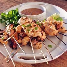 Chili Cumin Chicken Satay with Zesty Peanut Dip
