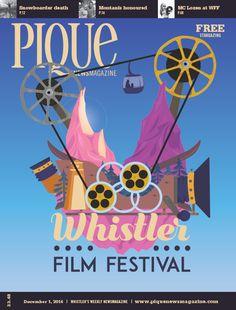 Pique newspaper magazine art cover. Whistler Film Festival
