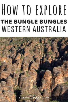 "Bungle Bungles Adventure in Purnululu National Park. The famous ""Beehives' in the Bungle Bungles are impressive from the sky. Western Australia, Australia Travel, Amazing Destinations, Travel Destinations, Places To Travel, Places To See, Travel Stuff, Stuff To Do, Things To Do"