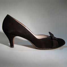 'Vintage 1940s Rhythm Step Suede Shoes  @Etsy'