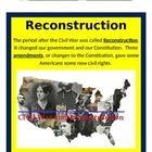 Powerpoint Interactive Notes Study Guide reconstruction, amendments, Freedmen's Bureau,free labor, contracts, Thirteenth Amendment, Fourteenth A...