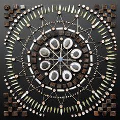 Mosaic Mandalas Made From Natural Elements by Matt W. Moore http://designwrld.com/mosaic-mandalas-matt-w-moore/