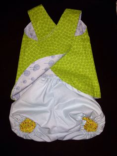 Handcrafted girls Pinafores and Bloomers. Reversible, 100% Cotton. size 000-1  http://www.facebook.com/Fil.et.Mignon.clothing  https://www.etsy.com/au/shop/Filetmignonclothing