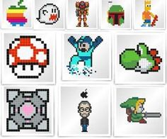 Create your own pixelated works of art or just purchase some of the cool pixel stickers already created with the Do It Yourself Pixel Art Sticker Studio. The pixel art studio is easy to use, just load it and start drawing pixels, save it, and purchase it!