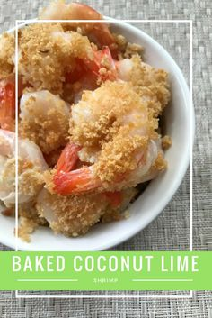 Check out this easy healthy recipe for baked coconut lime shrimp via @divasrun4bling
