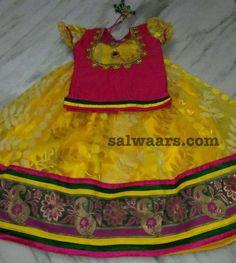 Yellow Jute Net Lehenga - Indian Dresses