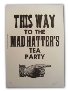 Mad Hatter.. Say halloween party or something.. Dead tea maybe or mad hatters walk of the dead tea party,or something