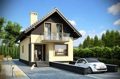 Attic House, Tiny House, Style At Home, Apartment Layout, Spanish Colonial, Home Fashion, Exterior Design, House Plans, Villa