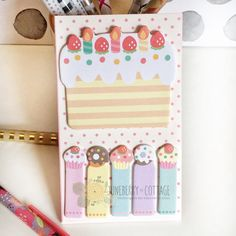 Sweet Treats Page Flags Donut Cakes Page Flags by JuneberryCottage